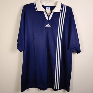 Vintage Adidas collared Soccer jersey Large bnwt